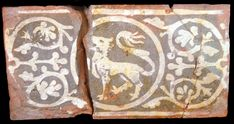 Medieval tile from Glastonbury Abbey, England. Medieval World, Medieval Art, Medieval Manuscript, Illuminated Manuscript, Glastonbury Abbey, Painted Floor Cloths, Medieval Pattern, Drawing Wallpaper, Clay Tiles