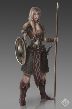 Female warrior by D3SMMUN