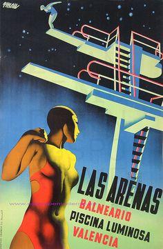 LAS ARENAS BALNEARIO PISCINA LUMINOSA VALENCIA, 1930