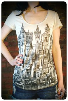 City Tshirt  Printed Tshirt  Victorian  SMALL by Carouselink, $26.00