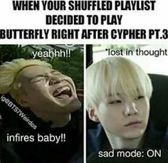 Ahh the struggles of shuffling your music. #BTS #Music #Kpop