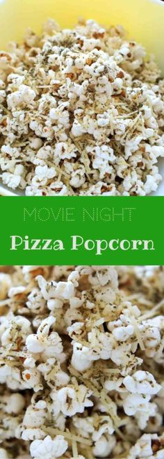 Pizza popcorn is a perfect snack for movie night that's still pretty healthy and full of flavor with dried herbs and parmesan cheese.