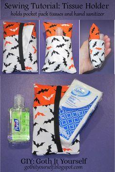 Sewing Tutorial: Pocket Pack Tissue Holder