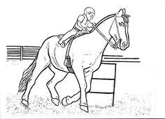 Pferdefotos zum ausdrucken ausmalbilder pferde for Coloring pages of horses barrel racing