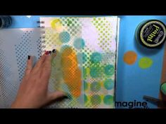 Mixed Media Backgrounds with Dylusions Paint & Ink Sprays - YouTube