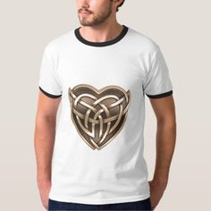 Celtic Heart Ringer T-Shirt - heart gifts love hearts special diy Saint Valentine, Valentine Day Gifts, Valentines, Gold Style, Metallic Style, Retro Fashion, Vintage Fashion, Gifts Love, Celtic Heart