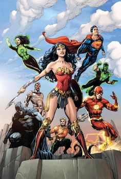 Shop for Justice League-The Extinction Machine (Fried Pie Exclusive Variant Cover) from DC Comics - written by Bryan Hitch. Comic book hits store shelves on July 2016 Comic Book Characters, Comic Character, Comic Books Art, Comic Art, Dc Comics Art, Marvel Dc Comics, Wonder Woman, 3d Kino, Superman