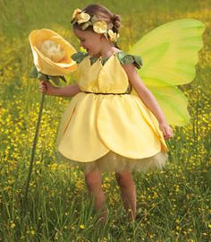 buttercup flower fairy child costume - Chasing Fireflies