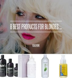 8 Best Products for Blondes ... - Hair [ more at http://hair.allwomenstalk.com ] The effort we go through being blonde! Hours sat with our hair in foils, moaning about roots and dull, dry hair, pining after the shiny hair of every brunette who walks past. We've all had or heard a blonde horror story of hair falling out or snapping off, even Marilyn Monroe's long hair suffered for her trademark platinum colour! But we don't have to suffer as blondes ... #Hair #Blondes #For #Yellow #And…