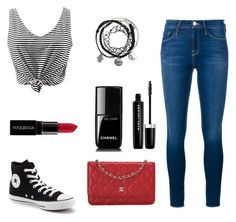 """""""Daisy"""" by daisydoodle11 on Polyvore featuring Converse, Frame Denim, Smashbox, Marc Jacobs and Chanel"""
