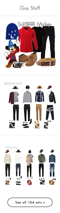 """""""Guy Stuff"""" by jannyi ❤ liked on Polyvore featuring Versace, Dockers, River Island, TOMS, disney, disneybound, mickeymouse, disneycharacter, Billabong and MasterCraft Union"""