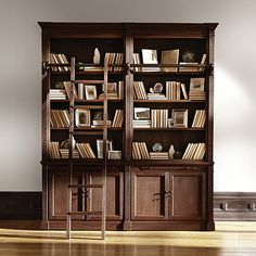 The Athens Library With Two Angled Bookcases On End Arhaus For Home Pinterest Living Rooms And Room