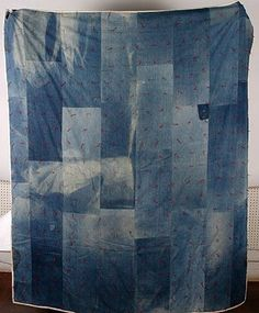 African Am. This is my dream quilt and I WILL make it. Patchwork Quilt Patterns, Denim Patchwork, Quilting Projects, Quilting Designs, Cut Up Jeans, Blue Jean Quilts, Picnic Quilt, Strip Quilts