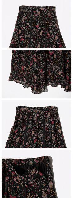 エスニックフラワーシフォンマキシスカート | レディース・ガールズファッション通販サイト - STYLENANDA