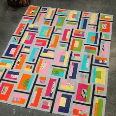 Technicolor (Pattern is in Modern Patchwork by Elizabeth Hartman) unfinished Sukie — Don't you know who I am?