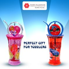Stylish #Sippers - Perfect Gift for Toddlers  Visit http://www.sonyplastics.com/ for bulk inquiries