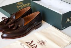 The Alden tassel loafer in cigar shell cordovan