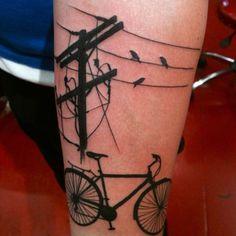Twitter / @HighVoltageTat Bird on a wire by John Macintyre