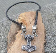 Swedish Tin THOR's HAMMER Pendant Necklace by WulflundJewelry, Kč450.00