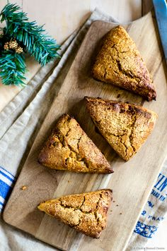 Gingerbread scones are lightly sweet with a welcome kick of flavor from three types of ginger. A great addition to your Christmas morning menu!