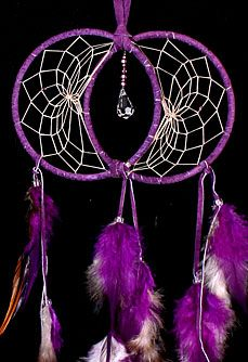 Soul Connection Double Dream Catchers. It is by sharing ourselves with another that we come to truly learn about who we are. Soul Connection Dream Catchers honor this relationship between two people. This beautiful dreamcatcher is detailed with feathers and a Swarovski crystal.