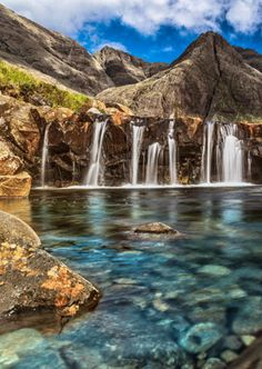 The Fairy Pools of Scotland are beautiful places to check out.