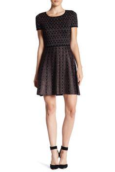Image of CeCe by Cynthia Steffe Sage Geo Sweater Dress