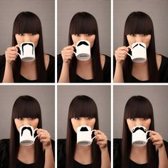 Moustache Cups.