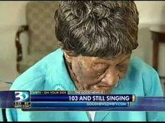 103 year-old woman still singing Gospel hymns