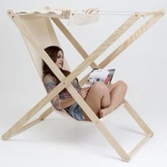 Double X, the outdoor folding chair created by Portuguese designer Tiago Braz Martins.