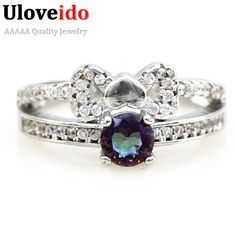 Find More Rings Information about 2016 Valentine's Day Gift Silver Plated Jewelry Rainbow Topaz Ring for Women Fashion Ring  Anel Feminino Fashion Jewelry Y2694,High Quality jewelry palladium,China jewelry coating Suppliers, Cheap jewelry cabinet from D&C Fashion Jewelry Buy to Get a Free Gift on Aliexpress.com