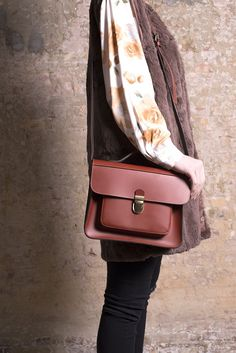 Postman Leather Bag via Sister Birkin Vintage and Fashion Shop. Click on the image to see more!