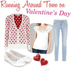 """Running Around Town on Valentine's Day"" by angiebailey13 on Polyvore"