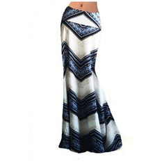 Women's Casual Printed High Waist Stretch Maxi Skirt Fishtail Long... ($28) ❤ liked on Polyvore featuring skirts