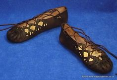 Hand-stitched prehistoric shoes from the iron age (1200-550 B.C.E)