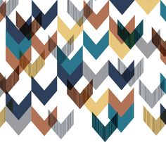 Non-Curvy Chevrons fabric by stephaniea on Spoonflower - custom fabric