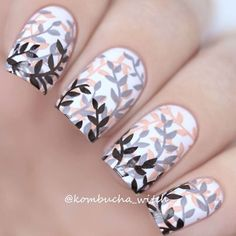 "@kineticsrussia ""Lost Soul"" + ""Gray, no Pink"" + ""Body Language""   Рисунок с плитки B018 by @whatsupnails"