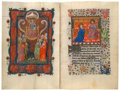 All Saints before the Throne of God Christ Receiving the Virgin into Heaven | MSS M.945, f. 115v–M.917, p.39 | The Morgan Library & Museum