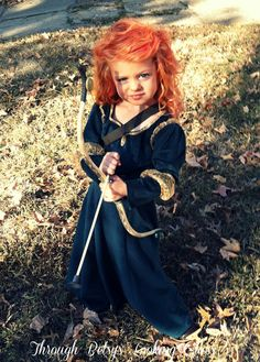 Merida Costume from Brave this is just so cute ((if I have a redhead she will be this one Halloween))