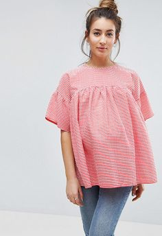 The gingham love is only getting more intense, and this red picnic-check is a summer dreamboat. Plus, smocks are totally breezy so prepare to revel in the comfort