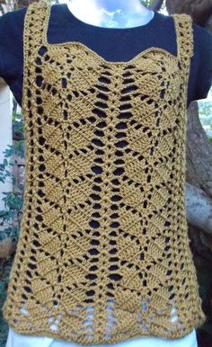 Sweet Nothings Crochet: AUTUMNY LEAFY TOP