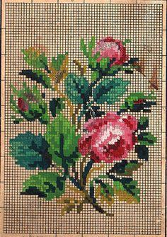 "Photo from album ""Старинные схемы"" on Yandex. Cross Stitch Kitchen, Cross Stitch Heart, Cross Stitch Borders, Cross Stitch Flowers, Cross Stitch Designs, Cross Stitching, Cross Stitch Patterns, Rose Embroidery, Vintage Embroidery"