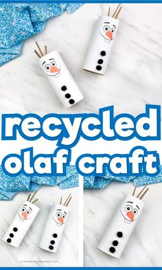 This recycled toilet paper roll craft for kids is a super simple and easy winter activity for kids excited about Frozen It's great for both boys and girls and comes with a free printable template w Arts And Crafts For Kids Toddlers, Disney Crafts For Kids, Winter Activities For Kids, Winter Crafts For Kids, Easy Crafts For Kids, Disney Frozen Crafts, Crafts At Home, Winter Crafts For Preschoolers, Craft Activities For Toddlers