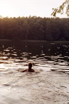 Late summer swims when the water is cold but you want to hold on to those last few moments of summer