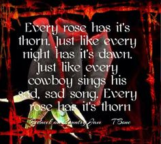 every rose has its thorn meaning