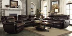 Sofa Sets with Wall Hugger Recliners