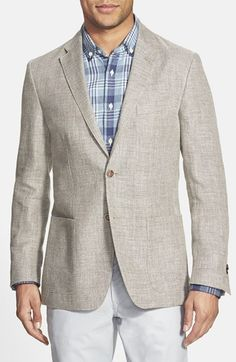 Corneliani Trim Fit Flax Blend Sport Coat available at #Nordstrom