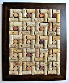 I knew I was saving those corks for something... Wine Cork Board - cool design