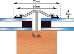 60mm Aluminium Glazing Bar Screw Down