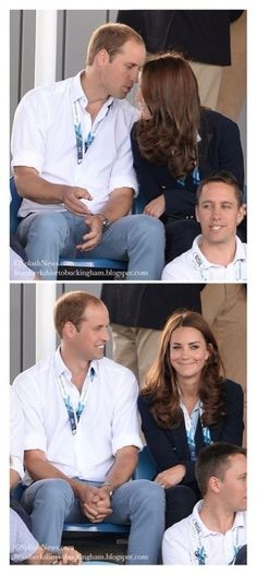 This is one of my favourite photos of William and Catherine, William whispers something into Catherine's ear and her look after is priceless